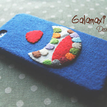 Handmade Big Mouth Phone Case, Unique Felt iPhone 4/4S/5/5S/5C Case / Big Mouth Phone Case