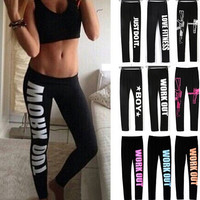 Group Buying Work Out Women Sport Leggings Fitness Cotton Legging High Quality Summer Print Jeggings For Womens Legins