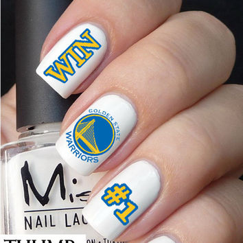 Golden State Warriors Basketball Nail Decals 50pcs