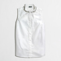 Factory jewel-collar oxford shell