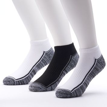 Tek Gear 3-pack Performance Low-Cut Socks - Men (White Black)