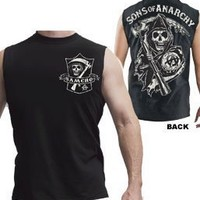 Sons of Anarchy SAMCRO Shield Muscle Black Men's Sleeveless T-shirt