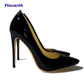 High quality Pointed Toe sexy two tone High Heels