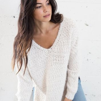 Kora Leona Fuzzy Knit Sweater