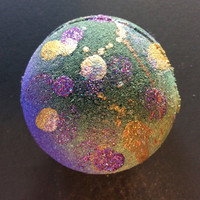 Galaxy bombs! Bath bomb with hemp seed oil