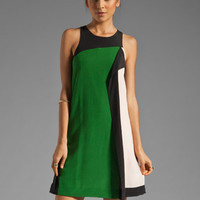 SONIA by Sonia Rykiel Color Block Tank Dress in Soft/Noir/Matcha from REVOLVEclothing.com
