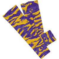 Digital ripped purple and yellow camo arm sleeve