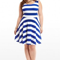 Plus Size Sailorette Stripe Dress | Fashion To Figure