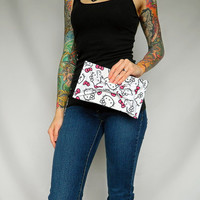 Hello Kitty Fabric Bow-Tie Clutch