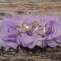 "Beautiful Purple Rhinestone and Pearl ""Love"" Headband! / Baby Headbands/ Baby Girl Headbands/ Headbands/ Women's/ Baby Bows/ Lace/Fancy/"