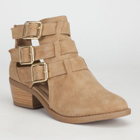 Soda Junia Womens Booties Natural  In Sizes