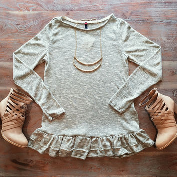 A Soft Knit Spring Tunic in Olive