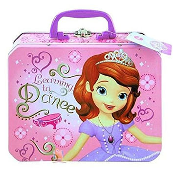 Disney Princess Sofia the First Metal Tin Lunch Box Storage Carrying Case