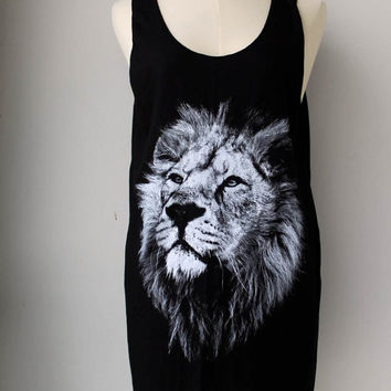 Lion's head Tank Top - Unisex Shirt