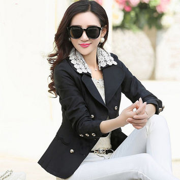 Women Blazer Feminine Suit Plus Size Coat 2017 Suit Jacket Women Elegant Office Lady Suits Cazadoras Mujer Jacket Blazer 50N0047