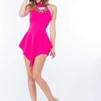 Party Crasher Peplum Halter Romper