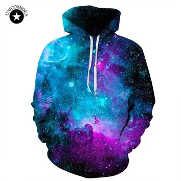 Unicomidea Galaxy Hoodies For Men Streetwear Men's Brand Clothing Hooded Sweatshirt 3d Print Hoody Funny Unisex Tops Dropship