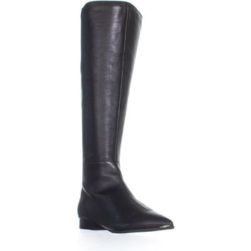 Marc Fisher Hanna Pointed Toe Knee High Boots, Black, 7.5 US
