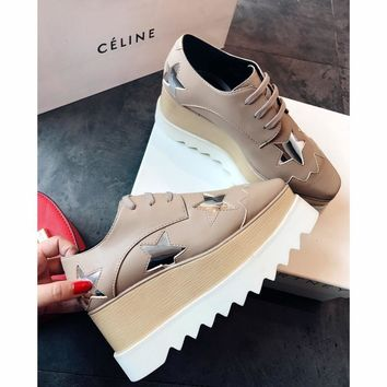 Celine STELL McC RTNEY Star Shoes Collection Classic Women's Shoes all star khaki