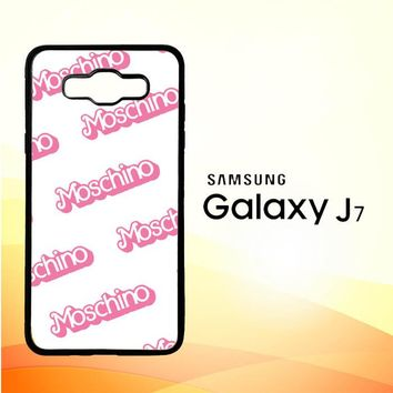 moschino pattern Z5297 Samsung Galaxy J7 Edition 2016 SM-J710 Case