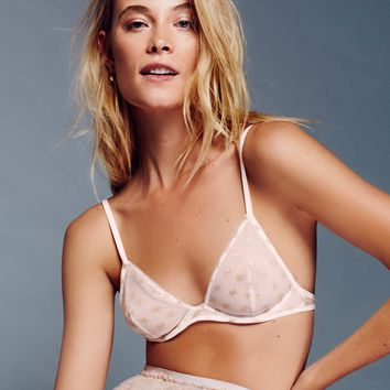 Free People Star Mesh Triangle Underwire Bra