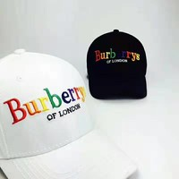 Burberry 2019 new rainbow embroidery letters for men and women models wild fashion visor baseball cap