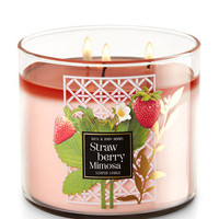 Strawberry Mimosa 3-Wick Candle | Bath And Body Works