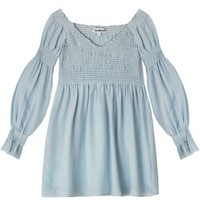 To Be Adored Smocked Magali Silk Dress