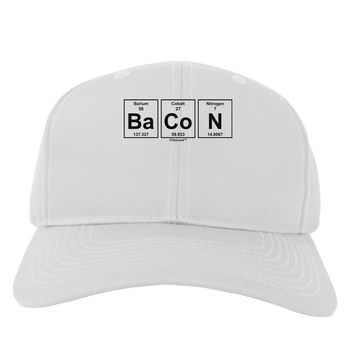 Bacon Periodic Table of Elements Adult Baseball Cap Hat by TooLoud