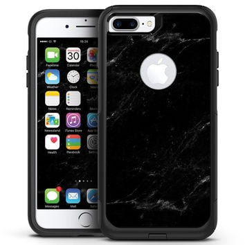 Slate Black Scratched Marble Surface - iPhone 7 or 7 Plus Commuter Case Skin Kit
