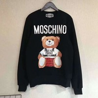 MOSCHINO Fashion Casual Long Sleeve Sweater Pullover Sweatshirt