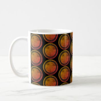 Cool Trendy Mandala art with black background coff Coffee Mug