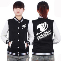 Fairy Tail Girls Baseball Uniform Cotton Jacket Cosplay Costume = 1932126276