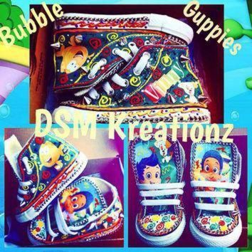 DCCK1IN it s timeeeeeeee forrrrr bubble guppies custom converse shoes