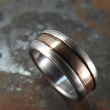 domed bronze silver ring dark oxidized elegant silver ring bronze rustic wedding ring rustic engagement ring men ring