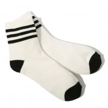 Baseball Stripes Cold-proof Cotton Socks