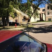GOLDEN SNITCH CAR ANTENNA