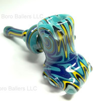 Glass Pipe, Heady Dry Hammer, READY for SHIPPING, Wig Wag, Reversal Hammer Pipes, Hand Blown Glass, CGGE Team