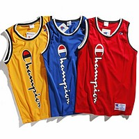 Champion 2018 spring and summer logo printing couple models mesh vest F0606-1