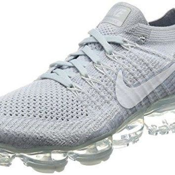 Nike Mens Lab Air Vapormax Flyknit Platinum/Grey Fabric