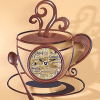 Decorative Metal Coffee Collection Clock