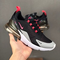 Nike Air Max 270 Black White Red Grey Men Running Shoes - Best Deal Online