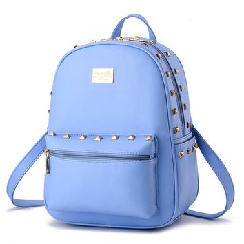 Korean style fashion women backpacks sweet lady rivet backpack preppy style student schoolbags KLY8890bag