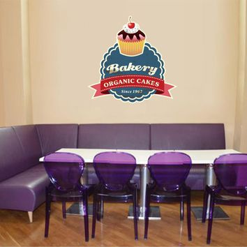 cik823 Full Color Wall decal Baking cupcakes bakery snack restaurant Showcases