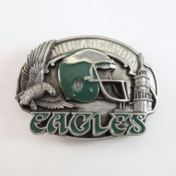 1987 Philadelphia Eagles Belt Buckle, Vintage Football Buckle, NFL Licensed Buckle, Limited Edition, Sports Buckle, Men's Stocking Stuffer