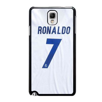 RONALDO CR7 JERSEY REAL MADRID Samsung Galaxy Note 3 Case Cover