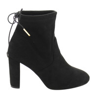 Brooklyn Women's Ankle Tie High Block Heel Bootie