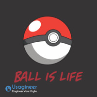 POKEMON BALL IS LIFE POKEBALL T SHIRT