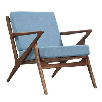 Jet Accent Chair BABY BLUE - WALNUT