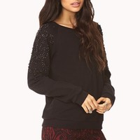 Fancy Beaded Sweatshirt